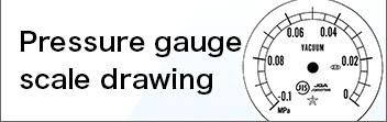 Pressure gauge scale drawing